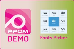PPOM Fonts Picker