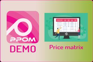 PPOM Price Matrix